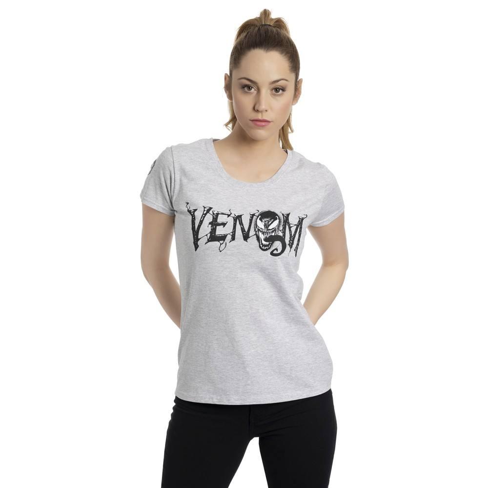 Venom Marvel Logo T-Shirt Grigio Sport L
