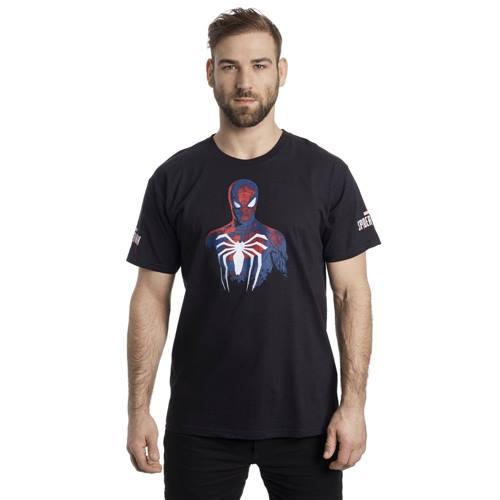 707b185a Marvel Spiderman Heren Tshirt Spider Zwart