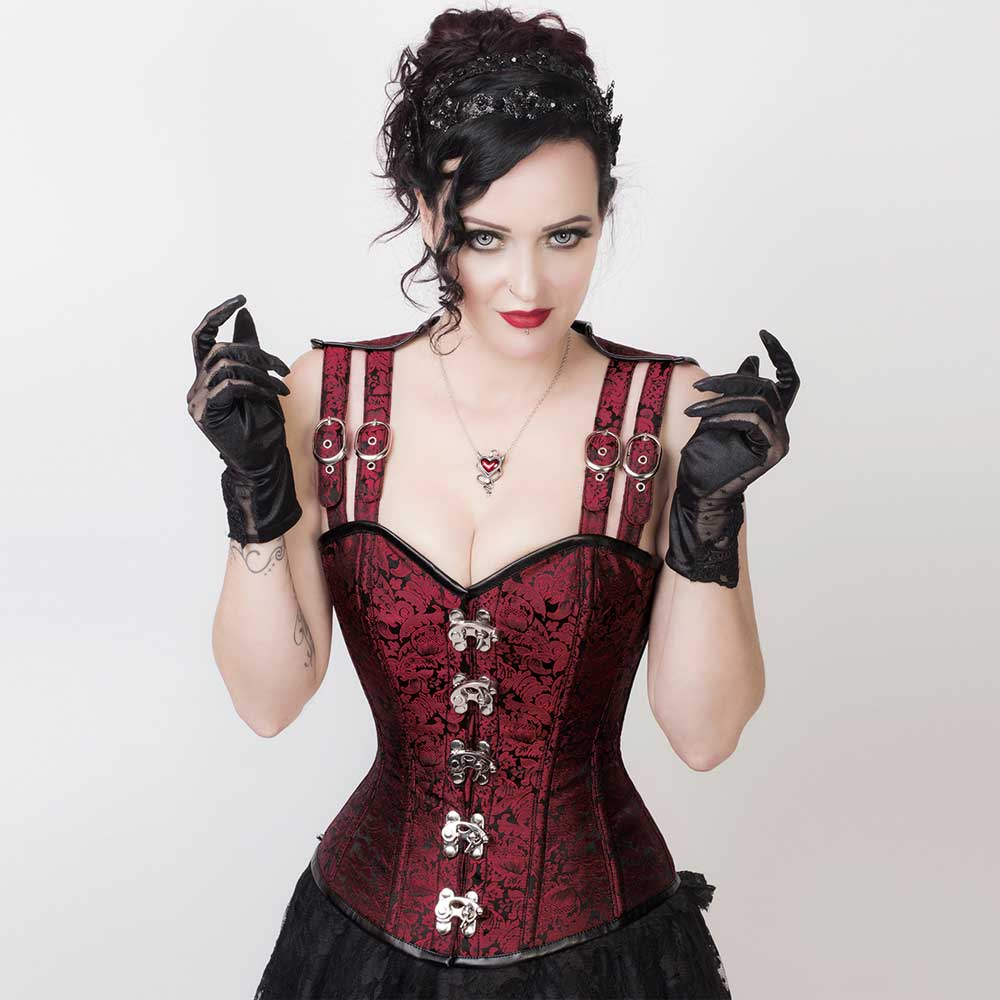 LONG LACE UP CORSET GLOVES Costume Gothic Steam Punk Emo Burlesque BLACK//RED