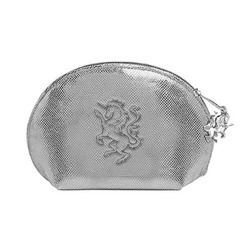 2da3868662b The World Of 3D Forest Unicorn ovalen makeup tas zilver kleurig - The W