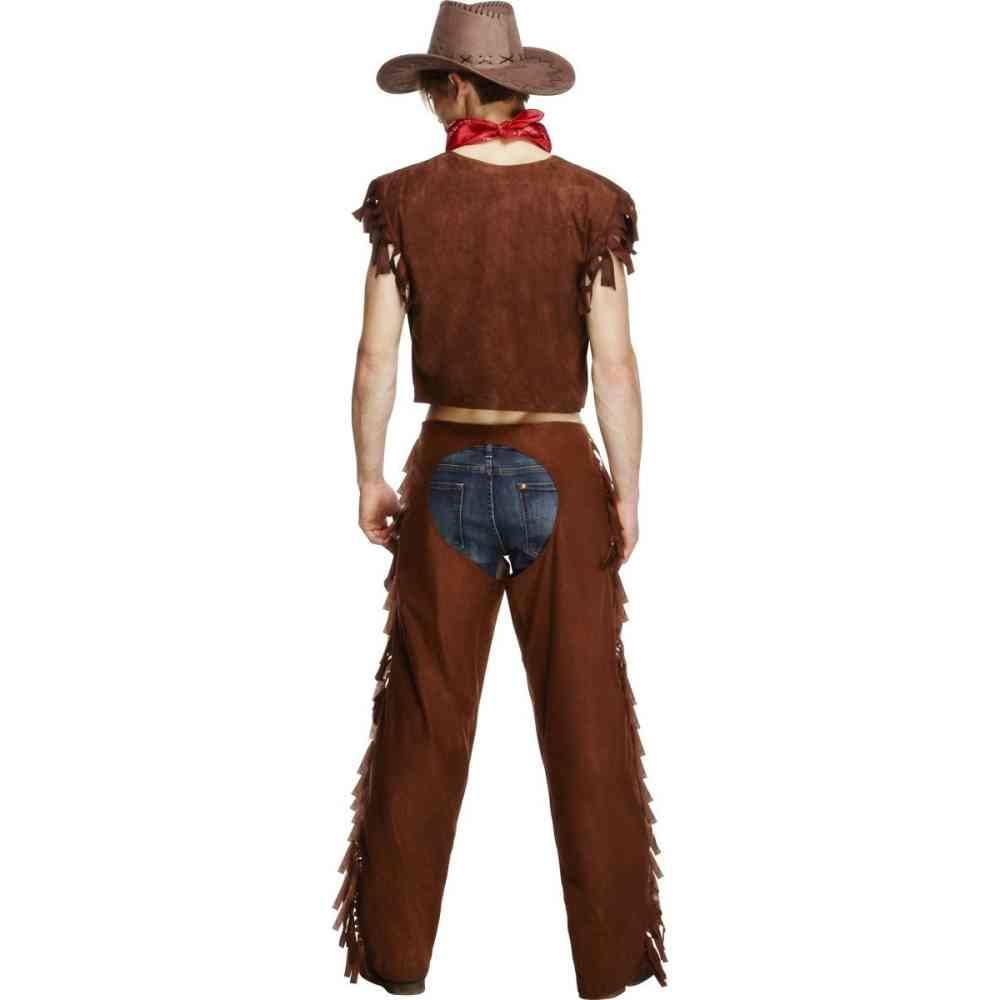 Gents Fever Male Ride Em High Cowboy Costume