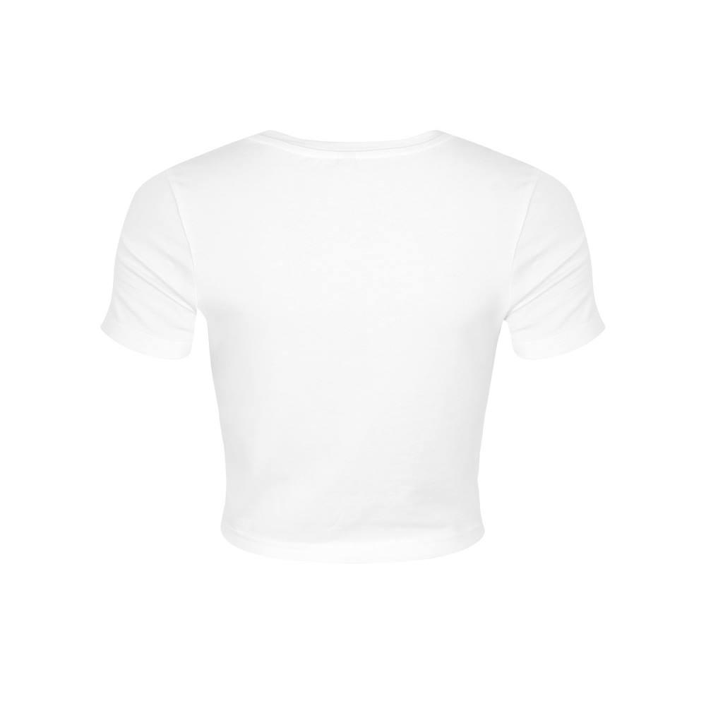 T-shirt Be More Herbivore Crop Top Women/'s White