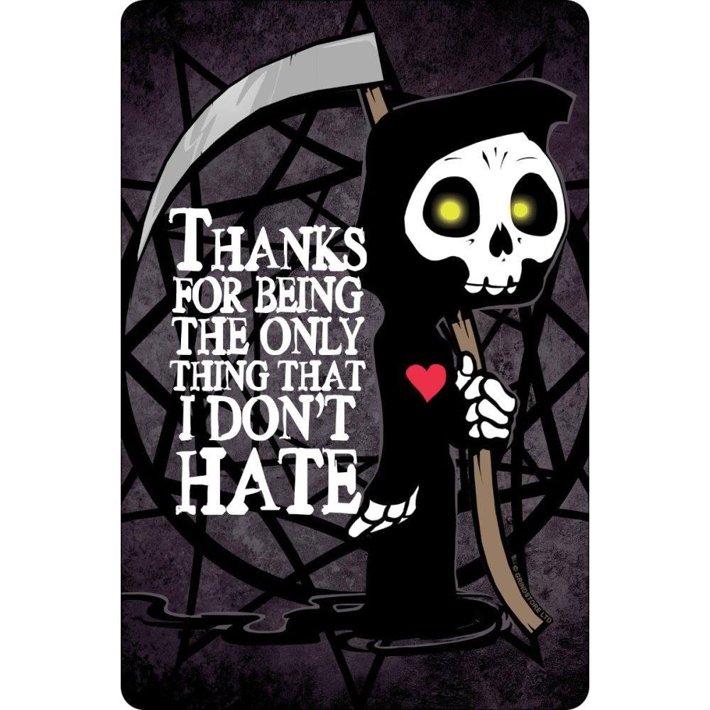 Grindstore Plaque Murale en m/étal Ouija Coffin 10 x 15cm